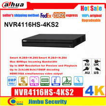 Dahua NVR 4K Network Video Recorder Easy4ip NVR4116HS 4KS2  16CH  1U 4K & H.265/H.264  Up To 8MP Tripwire For IP Camera