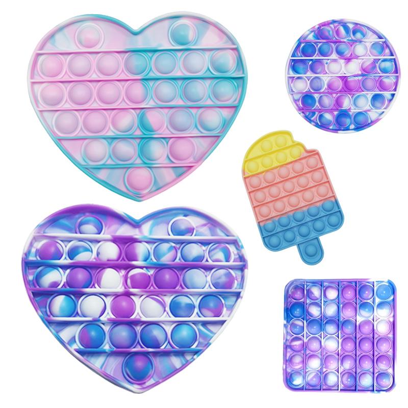 Push Pop It Bubble Fidget Toys Simple Dimple String Relief Adults Children Sensory Squishy Anti stress Relief Anti Stress Popit