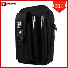 PAUKAOT 多機能ベルトバッグ旅行ファニーウエストパック携帯電話ポーチオックスフォード 1680D 男性のための火傷バッグ男性小ポケット