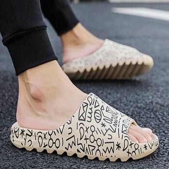 2020 Newest Men Slippers Summer Fashion Cool Breach Slipper Indoor Flip Flops Men's Sandals Light Injection Home Slides Shoes цена 2017