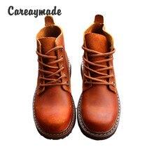 Careaymade نمط جديد أحذية من الجلد الحقيقي ، نقية اليدوية حذاء بوت بطول الكاحل ، الرجعية الفن موري فتاة الأحذية ، موضة الأحذية الرجعية ، 5 ألوان