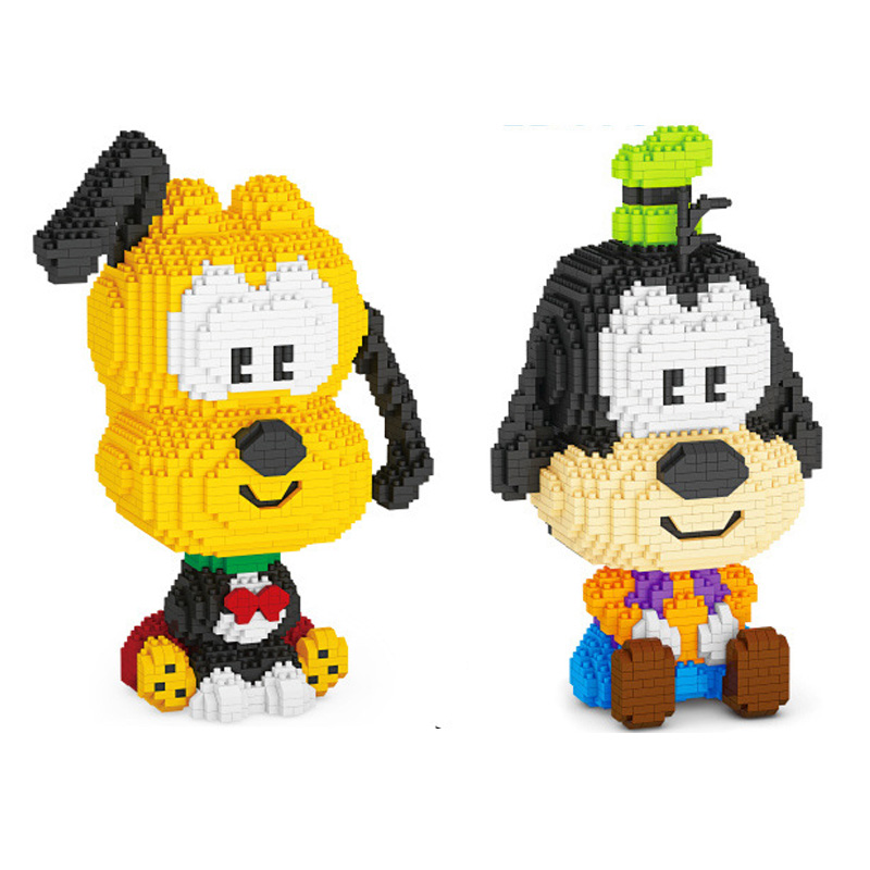 Lovely cartoon Animal dog figures micro diamond block Goofies Plutoes nanobricks model educational toys building brick for gift