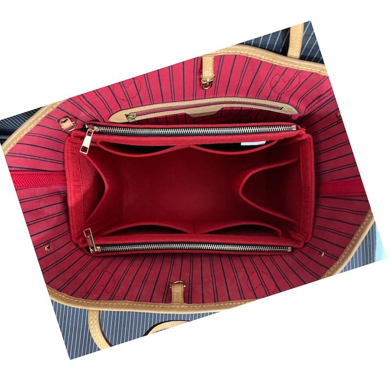 NeverFull PM MM GM Felt Cloth Insert Speedy Bag Organizer Makeup Handbag Organizer Travel Inner Purse Baby Cosmetic Mommy Bag