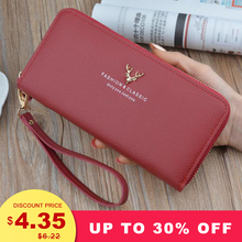 New Women Long Wallet Card Purse Fashion Classic Women Burse Top Quality PU Leather ID Holder Clutch Notecase Zipper Wallet 3 fold pu leather women wallet clutch famous brand design ladies purse card phone holder notecase clutch long burse coin pocket