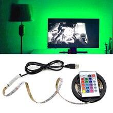 IP20 DC 5V USB LED 야간 조명 3528 5050 SMD 1m   5m 5V USB 케이블 전원 공급 장치 RGB LED 컨트롤러 USB LED 스트립 라이트 야간 램프