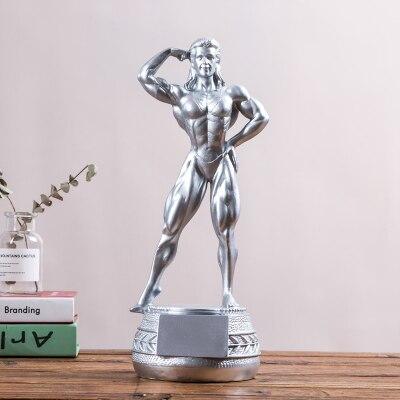 Fitness beauté compétition coupe fitness sculpture gymnastique corps décoration afficher un prix Figure Statue art Sculpture artisanat maison