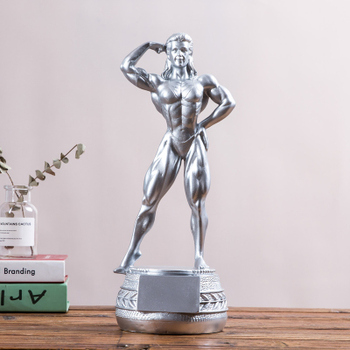 Fitness beauty competition cup fitness sculpture gym body decoration display a prize Figure Statue art Sculpture Crafts home