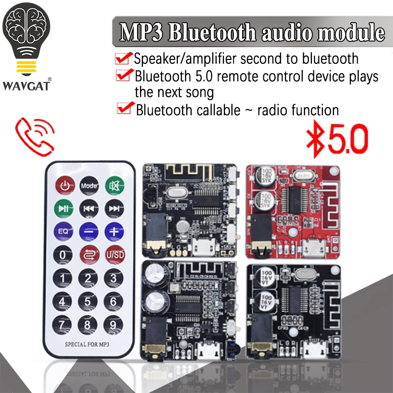 WAVGAT Bluetooth Audio Receiver board Bluetooth 5.0 mp3 lossless decoder board Wireless Stereo Music Module