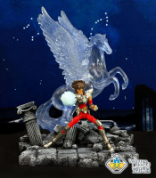 Amusement Park Saint Seiya model scene the Pegasus cosmos Resin Statue set Collectable Model