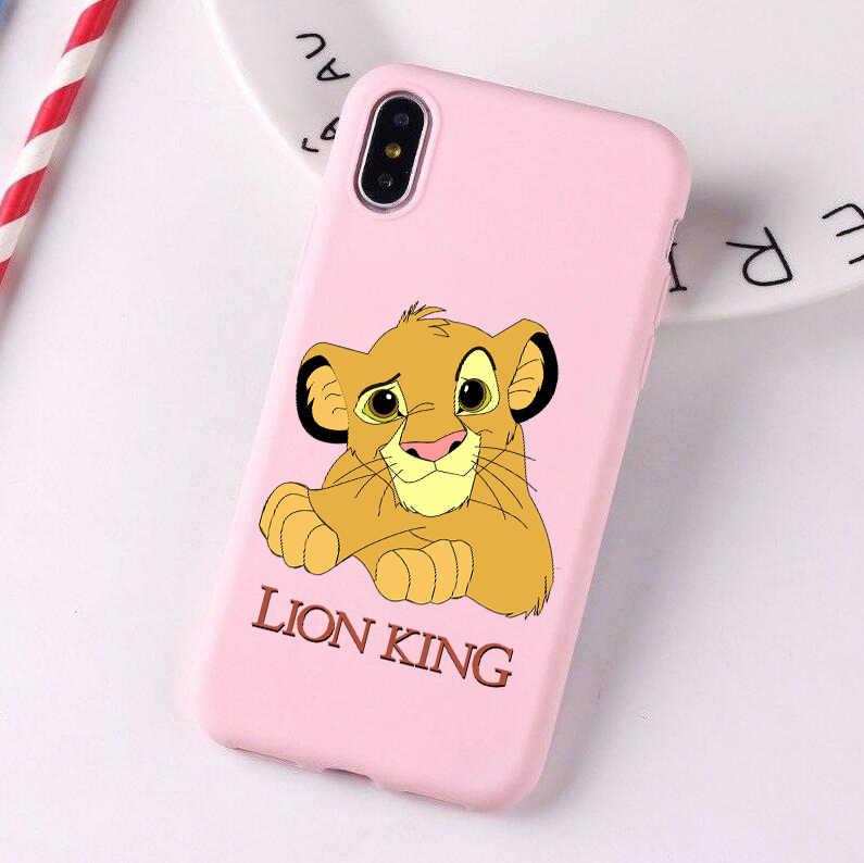 Leão rei 2019 filme colorido macio silicone caso de telefone para iphone 6/6s,6 plus/6 splus, 7/8 x, xs, xr, xsmax 11 pro