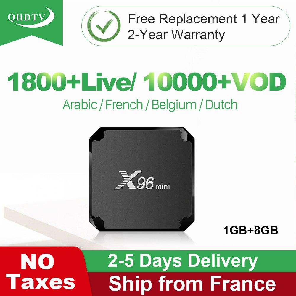 X96 Mini IPTV France QHDTV IPTV Android 7 1 X96mini TV Box 1G 8G Belgium Morocco Nethetlands Arabic France IP TV Subscription in Set top Boxes from Consumer Electronics