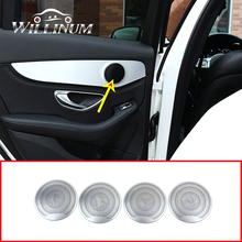 Car front rear door speaker cover sticker For Mercedes Benz GLC W205 W213 C E series midrange shell loudspeaker horn lid trim car subwoofer for benz c w205 glc e w213 s w222 series high quality speaker woofer under the seat automobile bass loudspeaker