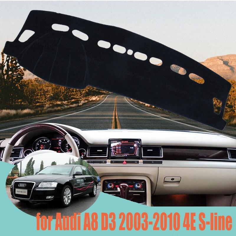 Dash Cover Mat Dashmat pokrywa deski rozdzielczej arkusz ochronny dywan dla Audi A8 D3 2003-2010 4E s-line stylizacja