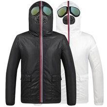 חדש מעיל גברים מגן סרבל תרמית מעיל גברים פנסי סלעית עם משקפיים נוער איש מעילים להאריך ימים יותר veste homme hiver