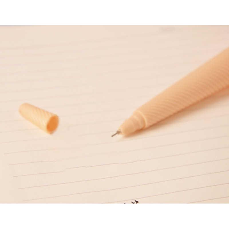 1Pc Ice Cream Ontwerp Gel Pen Met Hanger 0.38 Mm Mode Stijl Pen