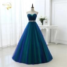 New Design A Line Sexy Fashion Long Prom Dresses 2020 Sweetheart Soft Tulle Vestidos de Festa Party Hot Sale Prom Dress OP33081
