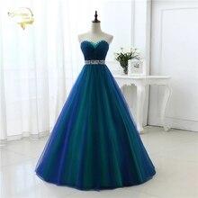 Nieuwe Ontwerp Een Lijn Sexy Fashion Lange Prom Jurken 2020 Sweetheart Zachte Tulle Vestidos De Festa Party Hot Koop Prom jurk OP33081