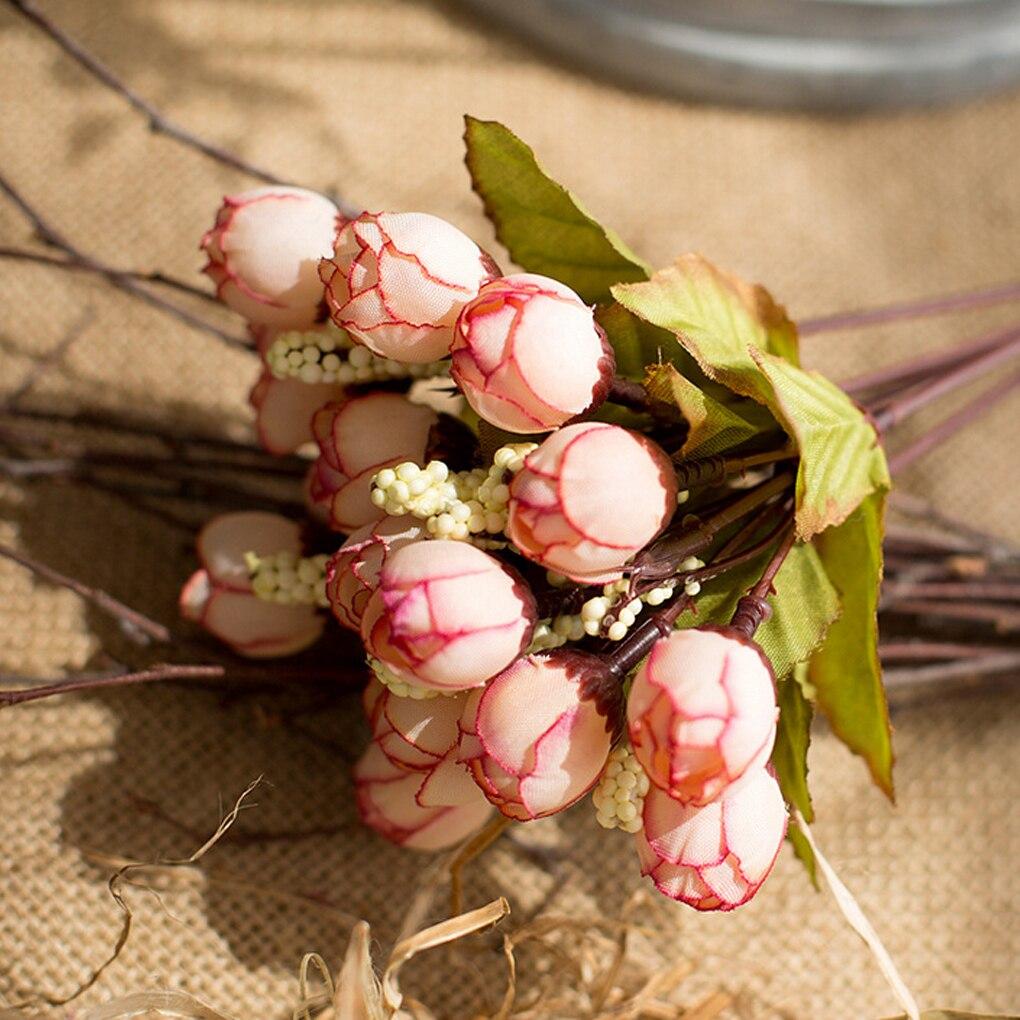 1 ветка, 15 голов/букет, маленькие бутоны, розы, искусственный цветок, Шелковая Роза, сделай сам, свадьба, домашний Рождественский Декор, цветы, роза, подарок|Искусственные и сухие цветы|   | АлиЭкспресс