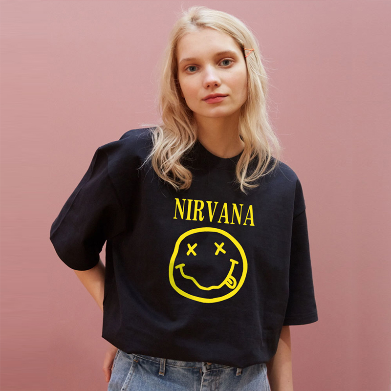 Nirvana T-shirts Men/Women Summer Cotton Tops Tee Print T Shirt Loose O-neck Short Sleeve Fashion T Shirts Plus Size S-3XL