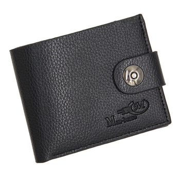 Mens Wallet European American Magnetic Buckle Multifunctional Standard Small Wallets PU Leather for Men