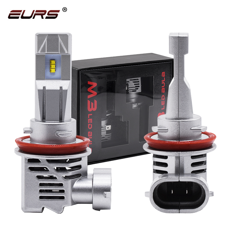 EURS 1Pair Car <font><b>Led</b></font> Headlight <font><b>H4</b></font> <font><b>LED</b></font> H7 55W <font><b>10000lm</b></font> 6000K H1 H11 9005 9006 HB3 HB4 M3 ZES Chip <font><b>Led</b></font> Automotivo 12V M image