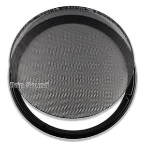 """Image 4 - Pour 10 """"pouce épaissi voiture haut parleur Conversion Net couverture décorative cercle métal maille Grille Protection"""