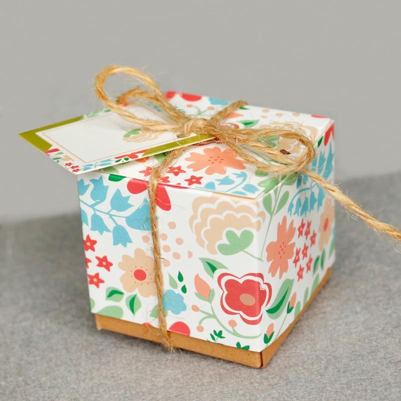 100 Kraft Paper Favor Box Anniversary Birthday Engagement Party Gift Box 9x7x3cm