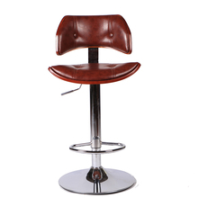 Bar-Stool-Chair Swivel Adjustable Faux-Leather Pub Height And 360-Degree Hydraulic-Seat