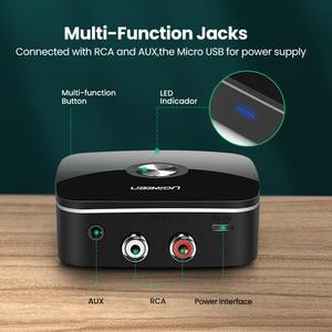 Image 5 - Ugreen bluetooth rca receptor 5.0 aptx ll 3.5mm jack aux adaptador sem fio música para tv carro rca bluetooth 5.0 3.5 receptor de áudio
