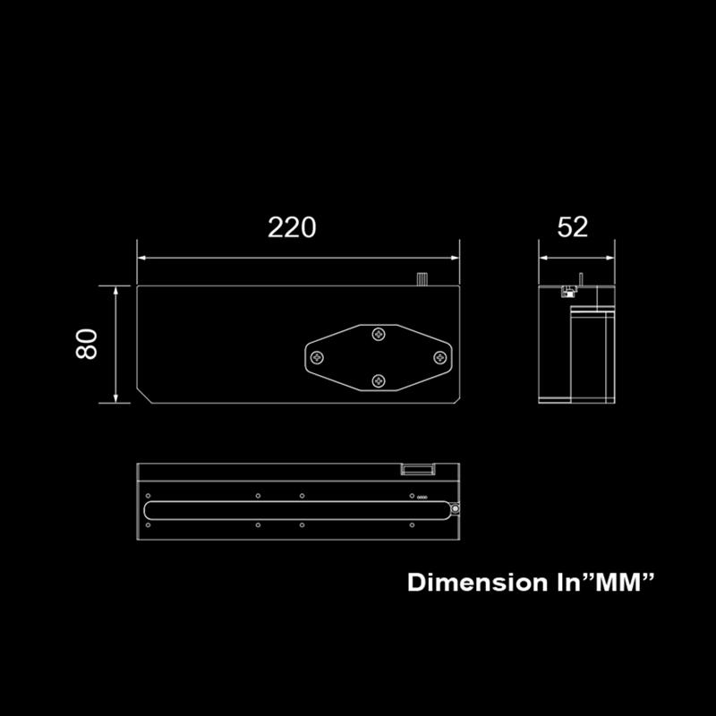Image 5 - Bitspower Touchaqua zbiornik na wodę PWM XYZ zbiornik Combo 17W pompa cyfrowe światło rgb synchronizacja 220x52x52MM BPTA XYZ RES PWMChłodzenie cieczą DIY   -