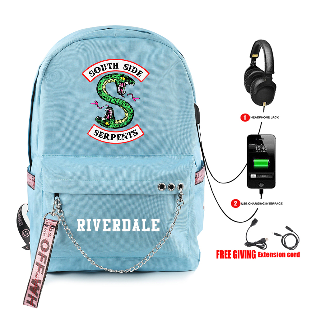 2019 New Riverdale Printing Men/ Women Oxford Backpack Youth School Travel Bag Girls / Boys Laptop Backpack