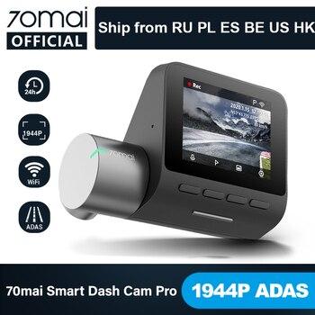 70mai Smart Dash Cam Pro anglais commande vocale 1944P 70MAI voiture DVR caméra GPS ADAS 140FOV Auto Vision nocturne 24H moniteur de stationnement 1