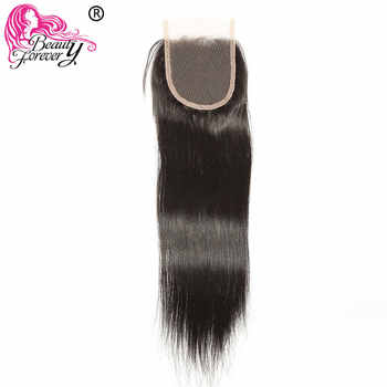 Beauty Forever Brazilian Straight Lace Closure Remy Human Hair Closures 4*4 Free Part Medium Brown Swiss Lace 10-20 inch - DISCOUNT ITEM  30% OFF All Category