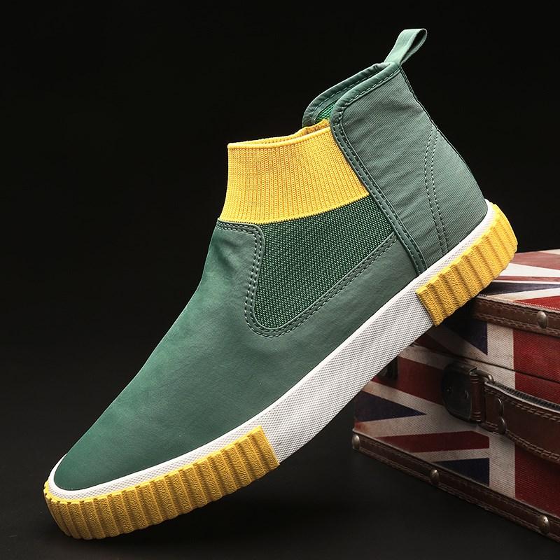 Men Casual Shoes Sneakers Breathable High Top Canvas Shoes Men Espadrilles Slip on Flats 2020 Fashion