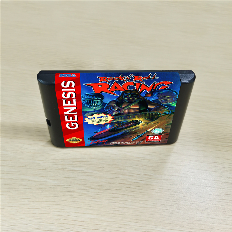 ROCK N' ROLL RACING - 16 Bit MD Games Cartridge For MegaDrive Genesis Console