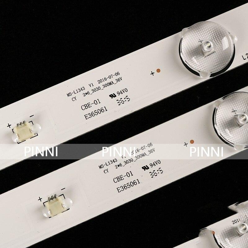 cheapest 580mm LED Backlight strip 6 lamps For Tv JL D32061330-081AS-M FZD-03 E348124 HM 32v input MS-L1343 L2202 L1074