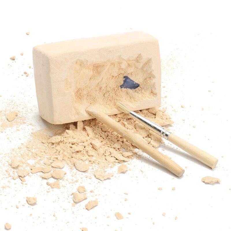 4pcs DIY Gem Excavation Kit Simulation Archaeology Digging Up Fossils Toy Model Children Learning Educational Toy