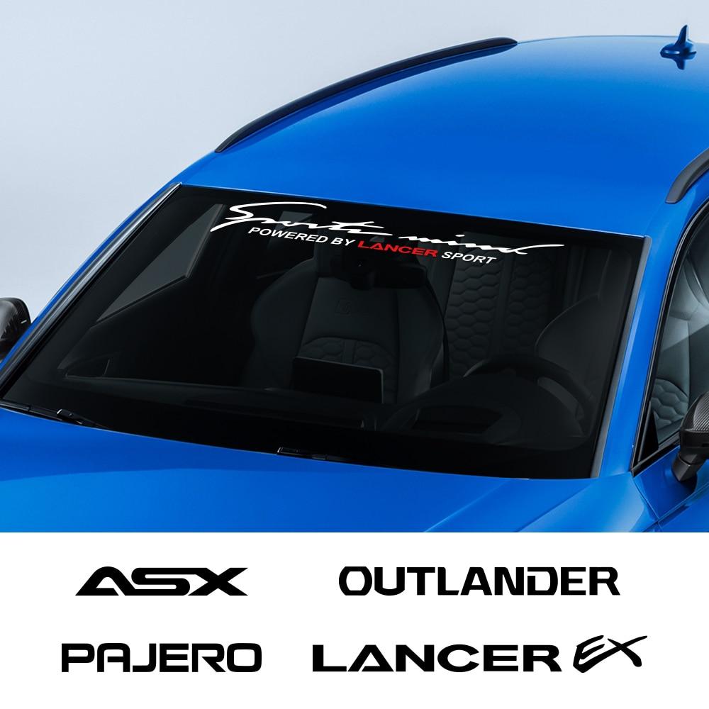 Pegatinas para parabrisas delantero de coche, para Mitsubishi Ralliart Outlander Lancer EX ASX L200 Colt Pajero Competition Eclipse Evolution X