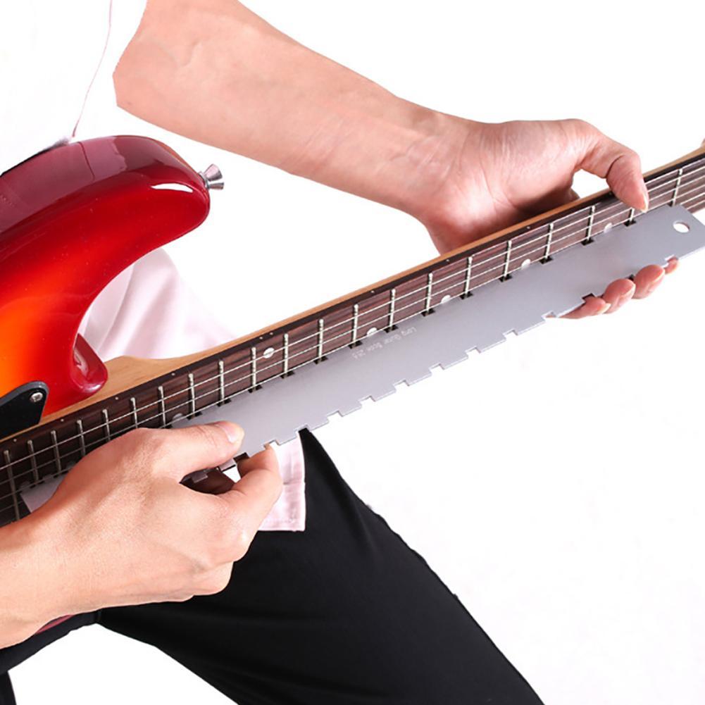 Bass Fingerboard Measure Electric Guitar Fretboard Frets Neck Notched Ruler Fret Fingerboard Straight Edge Ruler Measuring