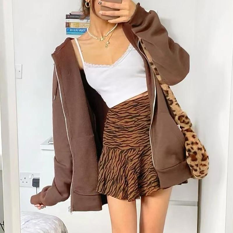 Oversize Girls Thick Hoodies 2021 Spring Fashion Ladies Streetwear Fleece Outfits Y2K Boyfriend Loose Hoodies