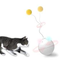 Brinquedo de gato elétrico criativo, brinquedo de gato, bola de rolamento inteligente, brinquedos com luz led, cachorros, brinquedos, bola interativa, rotativa