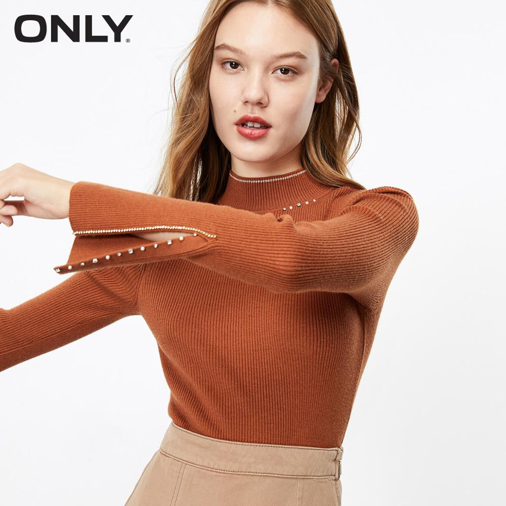 ONLY Women's Slim Fit Pure Color Base Knit   119324567