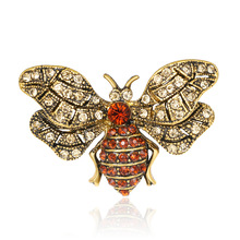 AliExpress supply of new retro clothing mens brooch animal insect corsage European jewelry