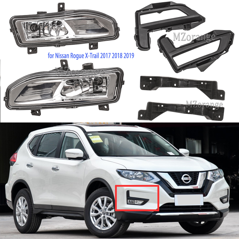 Противотуманный светильник s для Nissan x trail противотуманный светильник X Trail Rogue 2017 2018 2019 Противотуманные фары кронштейн переключателя DRL головной светильник противотуманный светильник s
