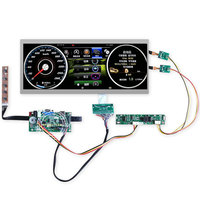 12.3 inch 1920x720 instrucment dashboard lcd screen Ultra Wide Stretched Bar cluster VGA LVDS HDMI Driver Board C123HAN01