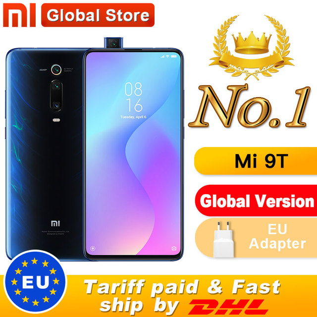 """Global Version Xiaomi Mi 9T 6GB 64GB Smartphone Snapdragon 730 Pop up Front Camera NFC 6.39"""" 48MP Moblie phone"""