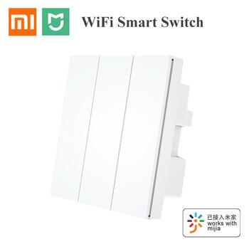 New Xiaomi Mijia PTX Wall SwItch 100-240V Wifi Remote Control Wireless Key 3 Gang Light Switch Zero Line Work With Mi Home App