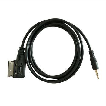 Interface AMI MMI to 3.5mm Male Jack audio AUX Adapter Cable For audi vw hot msor guitar to usb interface link cable adapter mac pc recording cd