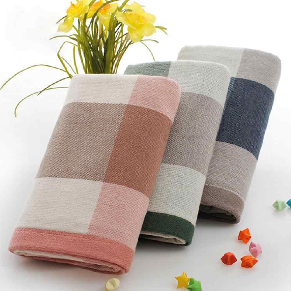 格子縞のパターン綿の吸水タオル顔速乾性