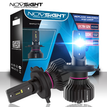 Novsight Luz Led automotriz de alta calidad para coche, luz Mini h4 h7 12v, h1 hb4 hb3 h8 h11 Bombillas de faros led, 360 grados